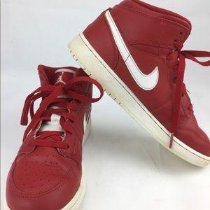 Air Jordan 1 Mid Gym Red/White-White Sz 5.5Y
